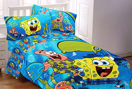 Spongebob Squarepants Twin Comforter Pajama Party Twin
