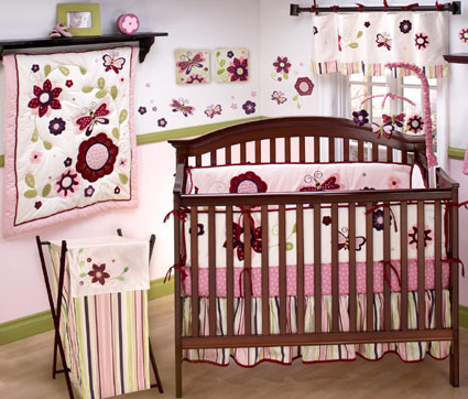Mystic Garden Nursery Crib Bedding 6-Pc Set by NoJo