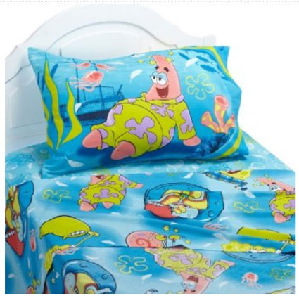 SpongeBob Squarepants Twin Sheet Set -  Pajama Party