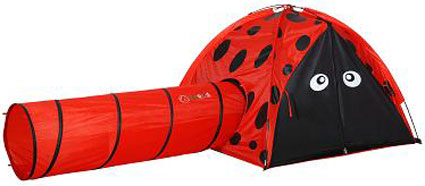 Girls Play Tent & Tunnel - Lily the Ladybug