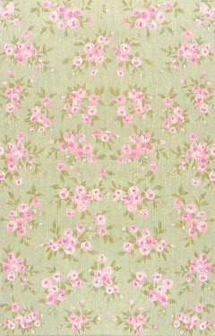 Bouquet Blossom Green Children's Floral Rug