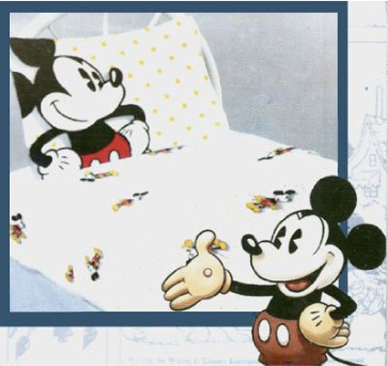 Disney Mickey Mouse Twin / Single Bed Sheet Set