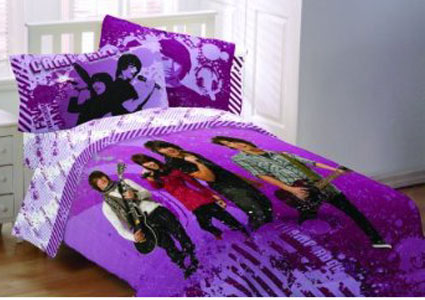 Camp Rock Twin Sheet Set - Kickin It Old School