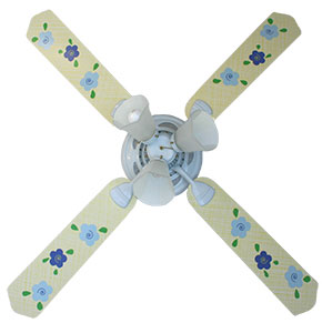 Out of Stock French Floral Yellow Ceiling Fan for Girls Rooms
