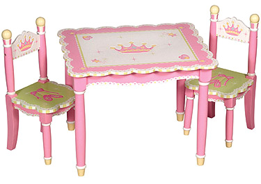 Swan Lake Girls Table & Chairs Set