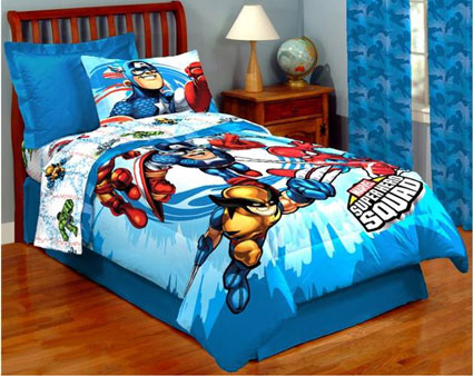 Marvel Superhero Squad Twin Bedding Sheet Set Twin Bedding