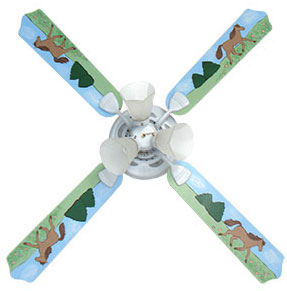 Out of Stock Wild Horses Baby Ceiling Fan with Lights