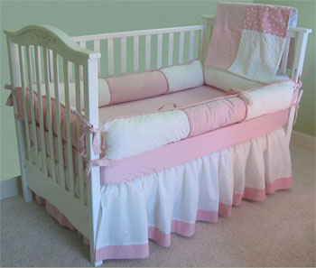 Princess Dots Style B 4-Piece Crib Bedding Set