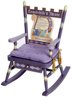 Grandchild's Throne Rocker Free Shipping