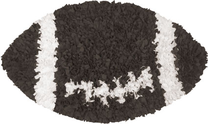 Shaggy Raggy Football Rug