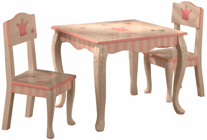 Princess and Frog Girls Table & Chairs Set by Teamson Kids