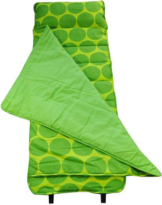 Out of Stock Big Dots - Green Nap Mat