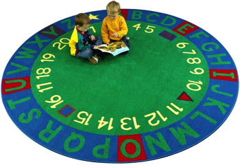 Learning Circle Super Tuff Kids Educational Activity Rug