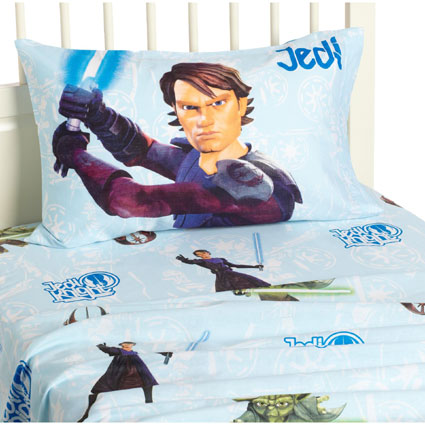Clone Wars Jedi Twin Sheet Set