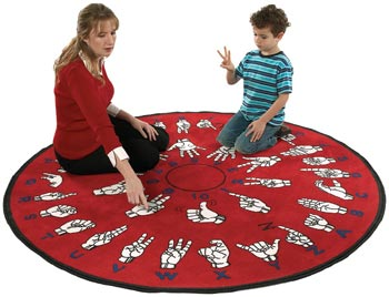 Hands That Teach Sign Language Carpet