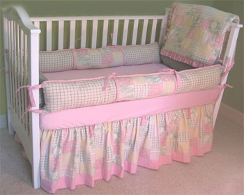 Perfect Patchwork Style B 4-Piece Crib Bedding Set