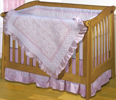 Pretty Chic 4-Piece Crib Bedding Set by ZZ Baby