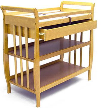 Sleigh Changing Table with 1 Drawer