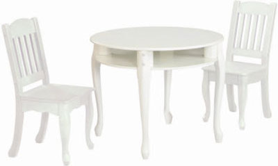 Windsor Children's Round Table and Chairs Set in White by Teamson Kids