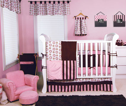 Bubblegum 4 Pc Crib Bedding Set Free Shipping