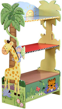 Available 10/15/11 Sunny Safari Bookcase by Teamson Kids