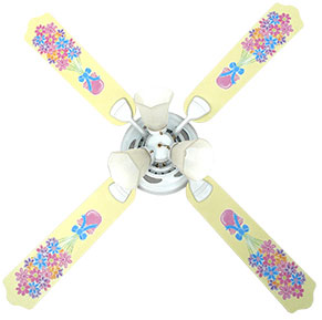 Out of Stock Floral Bouquet Girls Ceiling Fan with Lights