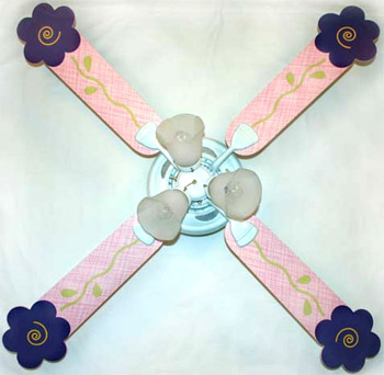 Out of Stock Purple Shaped Flower Ceiling Fan with Lights