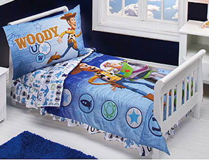toy story buzz and woody toddler bedding 4 pc set - Toy Story Toddler Sheets