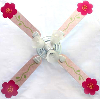 Out of Stock Pink Shaped Flower Girl Ceiling Fan with Lights