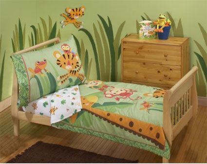 Rainforest Toddler Bedding 4 Piece Set By Fisher Price