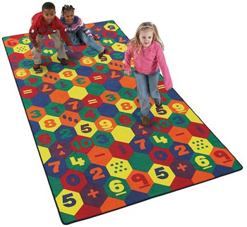 Math Time Kids Educational Carpet