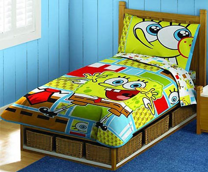 Spongebob Squarepants Toddler Bedding 4 Piece Set