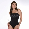 Slimming Latex Spanish Lace Thong Body Shaper  | Vedette 307