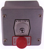 Exterior Surface Mount Key Switch with Push Button