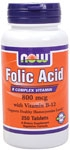 Folic Acid 250ct Now Foods (800mcg)