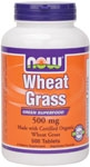 Wheat Grass 500ct Now Foods