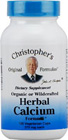 Herbal Calcium 100ct Dr. Christopher