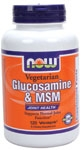 Glucosamine & MSM 120ct Now Foods (Vegetarian)