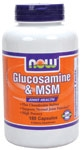 Glucosamine & MSM 180ct Now Foods