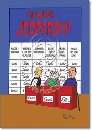 Senior Jeopardy Card