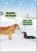 My Paws Are Frozen Card