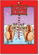 Reindeer Parking Card