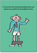 Polish Grandfather Clock Card