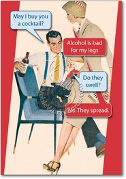 Bad For Legs Card