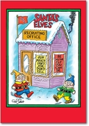 Santas Elves Card