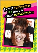 Clear Conscience Card