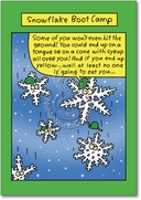 Snowflake Boot Camp Card