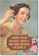 Drink Coffee and Wine Card