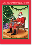 Santa Hates Ass-Kissers Card