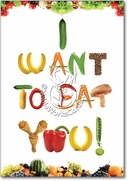 Want To Eat You Card
